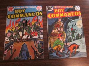 DC Boy Commandos #1 and #2 Very Fine 8.0 Simon and Kirby (137J)