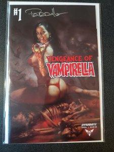 VENGEANCE OF VAMPIRELLA #1 SIGNED BY LUCIO PARRILLO WITH COA.