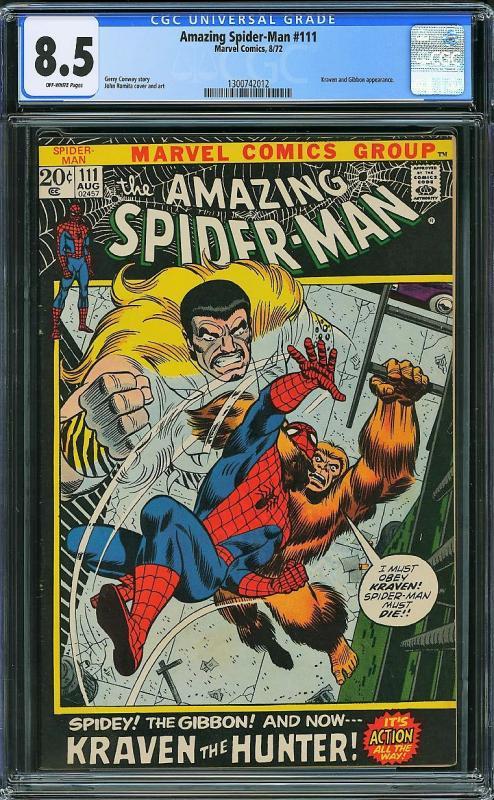 Amazing Spider-man #111 (Marvel, 1972) CGC 8.5