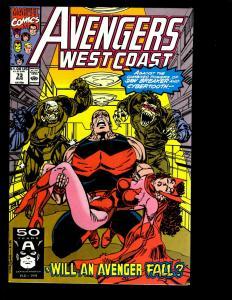 12 West Coast Avengers Marvel Comics # 73 74 75 76 77 78 79 80 81 82 83 84 GK6