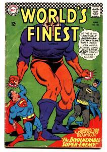 WORLDS FINEST #158 comic book 1966-DC COMICS-BATMAN-SUPERMAN
