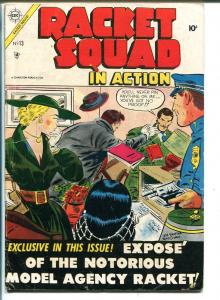 RACKET SQUAD IN ACTION #13-1954-CHARLTON-JOE SHUSTER-ACID IN THE FACE-vg+