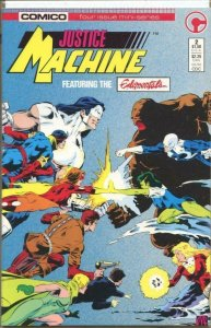 JUSTICE MACHINE #2, VF/NM, Elementals, Comico, 1986 more in store