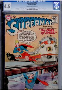 DC Superman #123 CGC 4.5  1st Supergirl try-out (pre-dates Action #252)