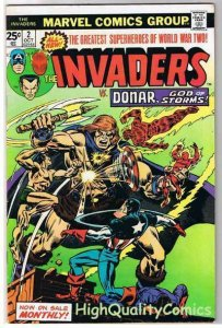 INVADERS #2, FN+, Captain America, Human Torch, 1975, more in store