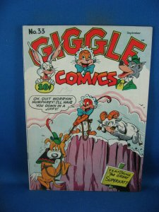 GIGGLE COMICS 33 F VF BLACK CARICATURES 1946