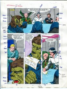 Justice Machine #24 Page #19 1988 Original Color Guide