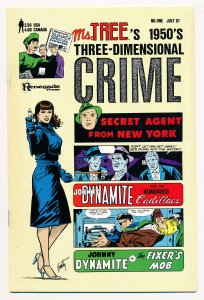 Ms. Trees 1950s Three Dimensional Crime (1987) #1 VF, no glasses