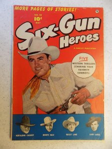 SIX-GUN HEROES # 20 GOLDEN AGE WESTERN HOPALONG LANE LARUE
