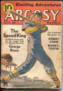 Argosy 8/29/1936-Munsey-baseball-Johnston McCulley-George Bruce-VG-