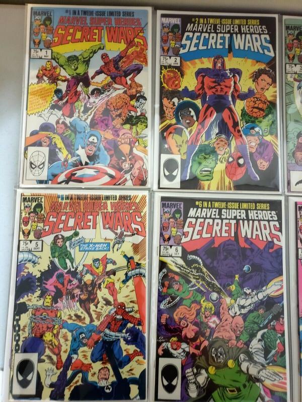 MARVEL SUPER HEROES: SECRET WARS #1-12 COMIC FULL RUN LOT, NM/M 9.8 HI Grade #8
