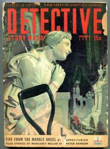 Detective Story Magazine Pulp November 1942- Five From the Marble Angel G/VG