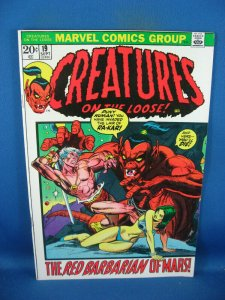 CREATURES ON THE LOOSE 19 VF+MARVEL HORROR 1972