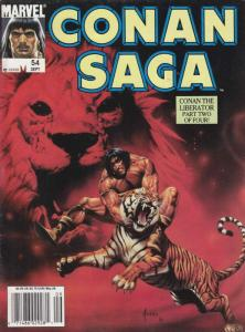Conan Saga #54 (Newsstand) FN; Marvel | save on shipping - details inside