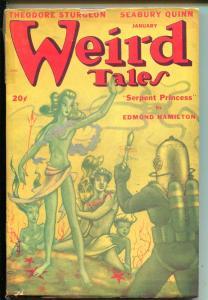 WEIRD TALES 01/1948-PULP HORROR-WEIRD MENACE-STURGEON-QUINN-HAMILTON-good/vg