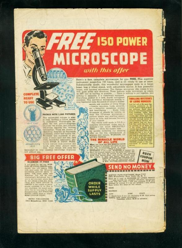 SHADOW COMICS v.6 #4 1946-SHADOW-DOC SAVAGE-PLAYING CARDS-fair/good FR/G