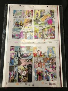 Legion of Super-Heroes #9 -Original Production Art- color separation