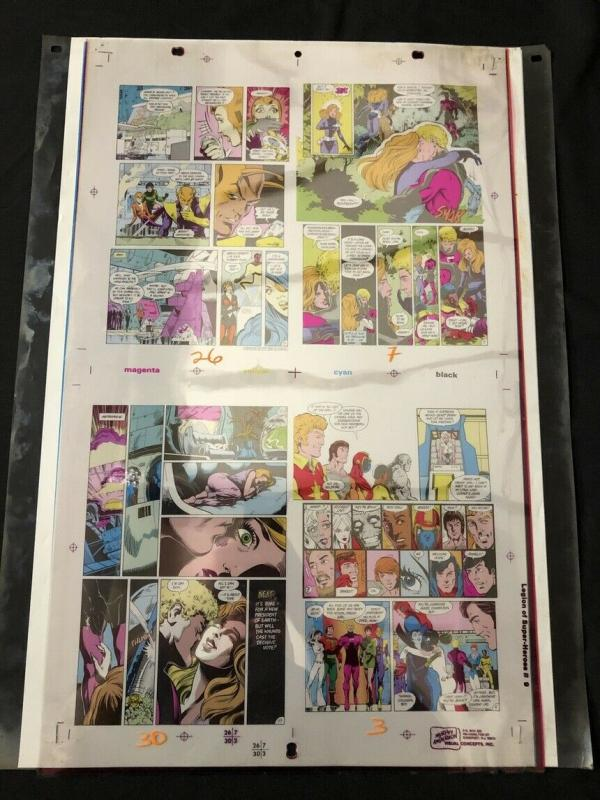 Legion of Super-Heroes #9 -Original Production Art- color separation