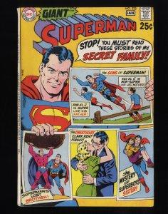 Superman #222 FN 6.0 Q-Bomb Experiment! DC Comics!