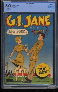G.I. Jane #1 CBCS VG/FN 5.0 White Pages