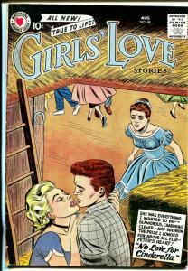 Girls' Love #48 1957 DC-barn dance romance triangle cover-VG