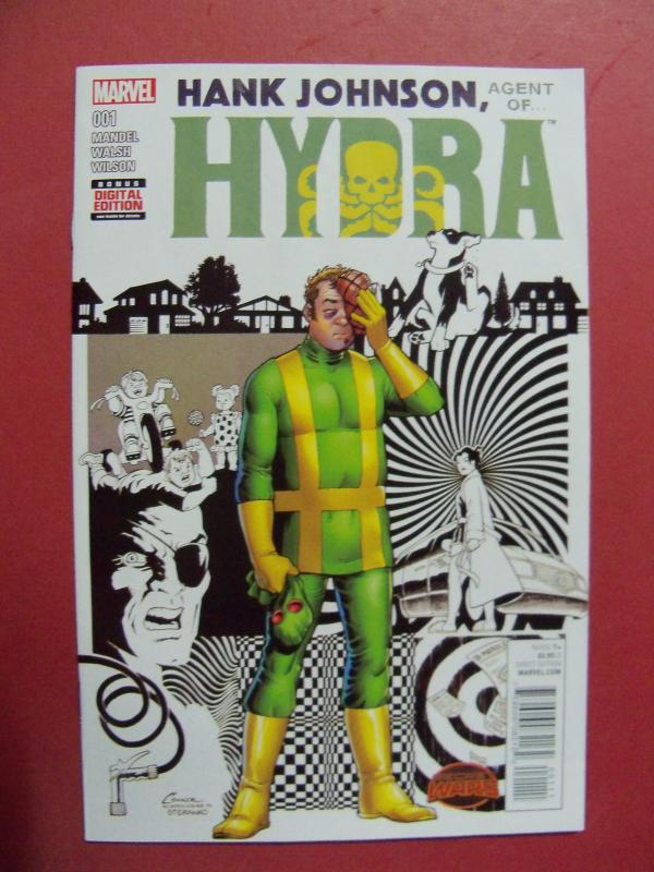 HANK JOHNSON, AGENT OF HYDRA, SECRET WARS #1,    VARIANT COVER, MARVEL
