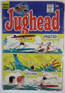 Archie's Pal, JUGHEAD #137 (Archie, 10/1966) FAIR Jug surfs!