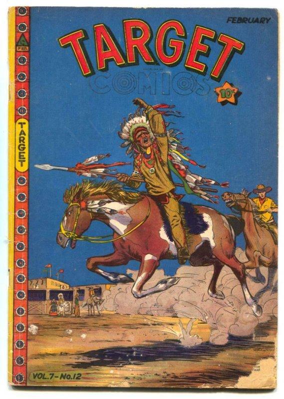 Target Vol. 7 #12 1947-Targeteers-Chameleon-western cover VG-