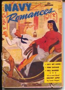 Navy Romances-Fall 1946-spicy oriental woman-pulp fiction-rare-G/VG