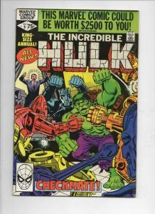 HULK #9 King Size, VF, Bruce Banner, Incredible, Ditko, 1980, Marvel