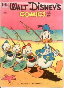 WALT DISNEYS COMICS & STORIES 129 VG-F  June 1951 COMICS BOOK