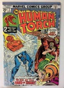 Human Torch #3 Marvel 1975 VF+ Bronze Age Comic Book 1st Print