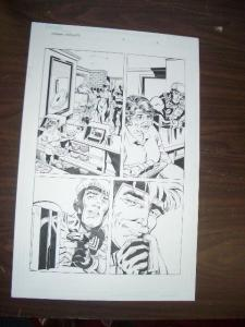 COMMON GROUNDS #2 PG 5 ORIGINAL COMIC ART--DAN JURGENS FN