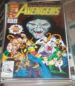 Avengers # 352 1992 marvel  the grim reaper  vision herc sersi eternal