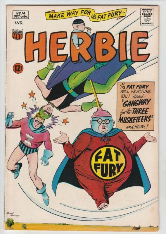Herbie #14 (Dec-65) VF High-Grade Herbie Popnecker