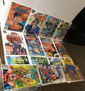 Action Comics 558 571-576 578-582 584 585 6.0-8.0 Fn/vf Fine - Very Fine A22