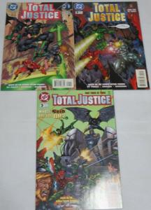 TOTAL JUSTICE (1996) 1-3 based on Kenner action figures