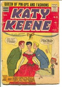 Katy Keene #56 1960- Bill Woggon- Rare late issue VG/FN