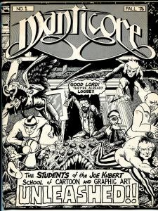 Manticore #1 1976-Joe Kubert School of Art-Harry 'A' Chesler-Bissette-Yeates-FN