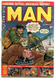 Man Comics #12 1952-Atlas War Golden Age -KOREAN WAR MANEELY G