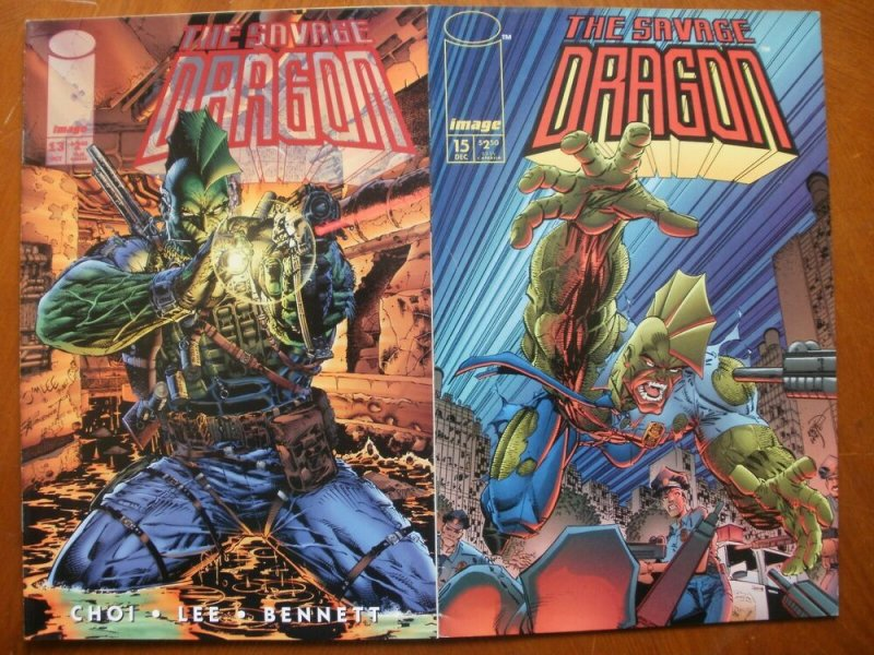 2 Near-Mint Image THE SAVAGE DRAGON #13 & # 15 (1994) Choi Lee Bennett