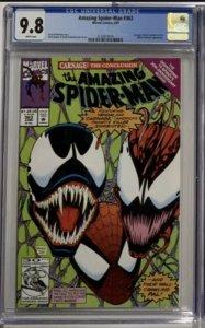 Amazing Spider-man 363 Cgc 9.8 White Pages Carnage Venom Marvel