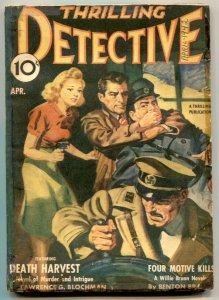 Thrilling Detective Pulp April 1942- Death Harvest- restored