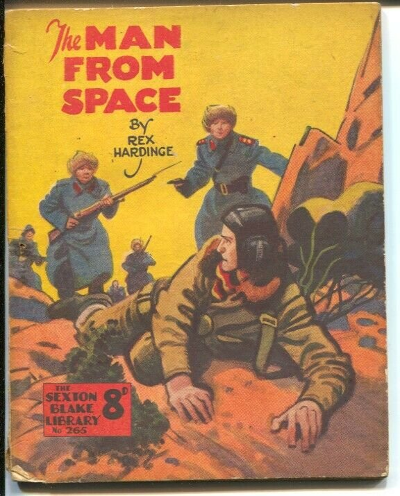 Man From Space #265-1940's-Sexton Blake Library-Rex Hardinge-commie attack cover