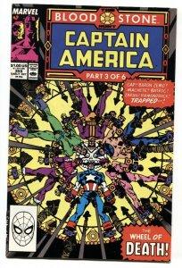 Captain America #359 comic book 1989-CROSSBONES cameo-Marvel Copper Age  VF/NM