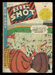 BIG SHOTS COMICS #61 1945-CHARLIE CHAN-SKYMAN-THE FACE- VG