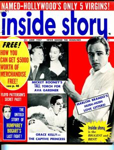 Inside Story 6/1957-exploitation-Mickey Rooney-Brando-Bogart-G/VG