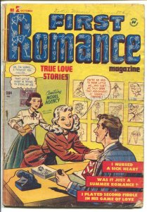 First Romance #2 1949-Harvey-model agency cover-Bob Powell art-G