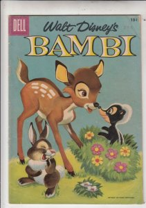 Movie Classics Bambi #3 (Apr-56) VG/FN Mid-Grade Bambi and Thumper