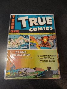 ​TRUE COMICS #47 GOLDEN AGE CLASSIC VG ATOM BOMB ISSUE